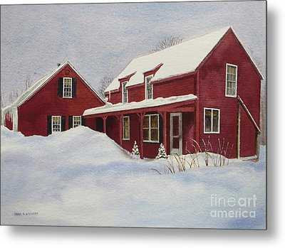 Dresden Farmhouse Metal Print