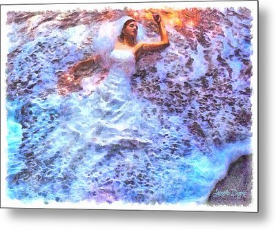 Dressing Waves - Da Metal Print by Leonardo Digenio