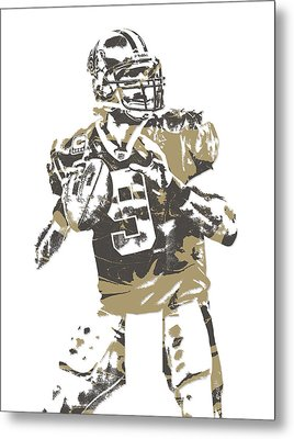 Drew Brees New Orleans Saints Pixel Art 6 Metal Print