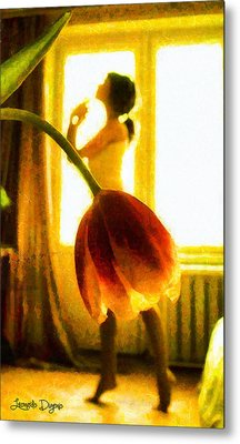 Drewwing Flower - Da Metal Print by Leonardo Digenio