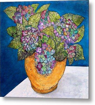 Dried Hydrangea Metal Print by Janet Immordino