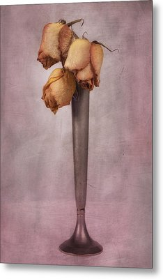 Dried Roses Still Life Metal Print