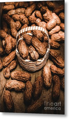 Dried Whole Peanuts In Their Seedpods Metal Print by Jorgo Photography - Wall Art Gallery