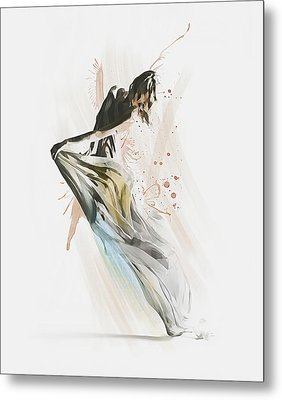 Drift Contemporary Dance Metal Print by Galen Valle