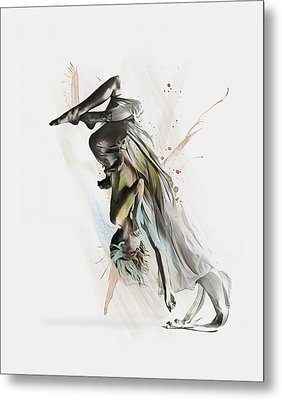 Drift Contemporary Dance Two Metal Print by Galen Valle