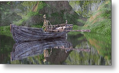 Drifter On The Lake Metal Print by Betsy Knapp