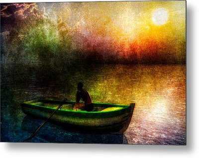 Drifting Into The Light Metal Print by Bob Orsillo
