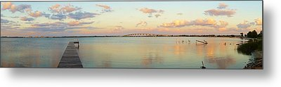 Driftwood Dock At Dusk Metal Print