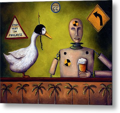 Drink Test Dummy Metal Print by Leah Saulnier The Painting Maniac