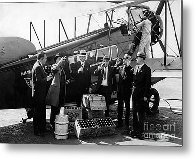 Drinking Prohibition Agents  Metal Print