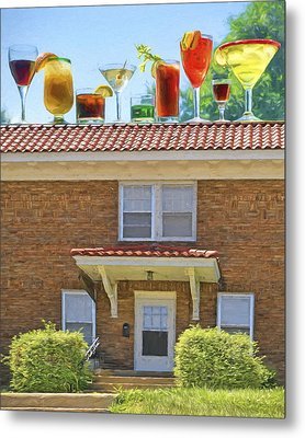 Drinks On The House Metal Print by Nikolyn McDonald