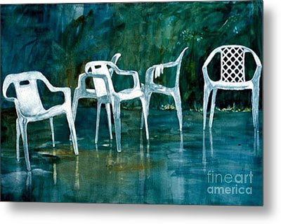 Metal Print featuring the painting Drip Dry by Elizabeth Carr