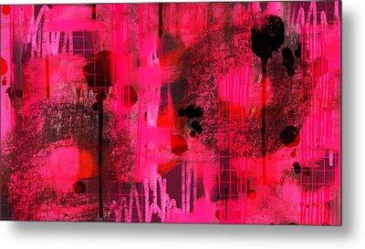 Dripping Pink Metal Print by Lisa Noneman