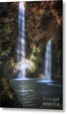 Dripping Springs Falls Metal Print by Tamyra Ayles