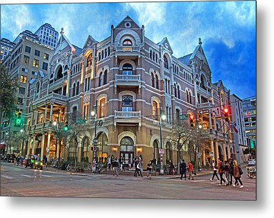 Driskill Hotel Light The Night Metal Print by Betsy Knapp