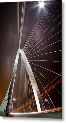 Drive-by Lights Metal Print by Andrew Crispi