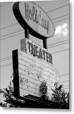 Drive-in Metal Print by Audrey Venute