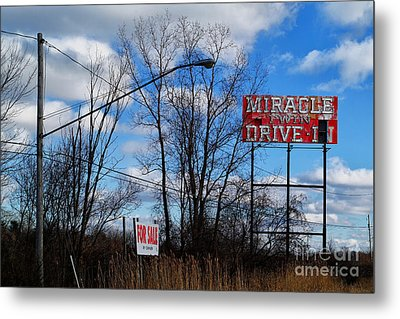 Drive-in For Sale Metal Print by Jeff Holbrook