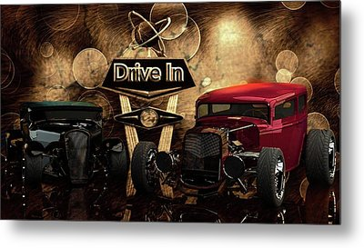 Metal Print featuring the photograph  Drive In by Louis Ferreira