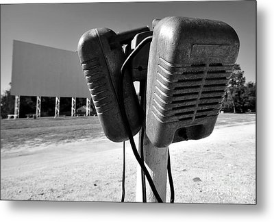 Drive In Speakers Metal Print by David Lee Thompson