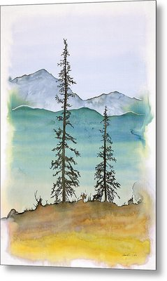 Drive To Eagle And Sketching On A Bumpy Road Metal Print by Carolyn Doe
