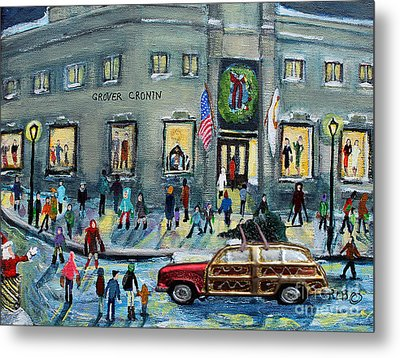 Driving By Cronins, After Getting The Tree Metal Print
