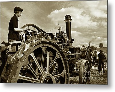 Driving The Engine Metal Print by Rob Hawkins