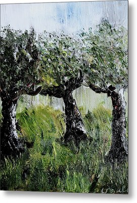 Metal Print featuring the painting Drizzle by Evelina Popilian