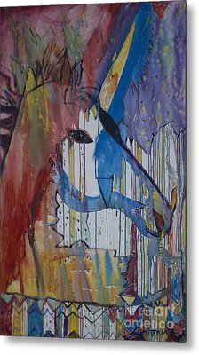Drizzled Unicorn  Metal Print by Avonelle Kelsey