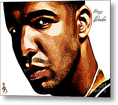 Drizzy Drake Metal Print by The DigArtisT
