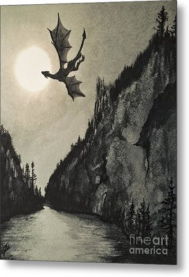 Metal Print featuring the painting Drogon's Lair by Suzette Kallen