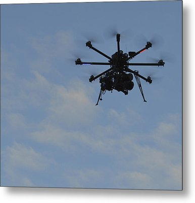Metal Print featuring the photograph Drone by Linda Geiger