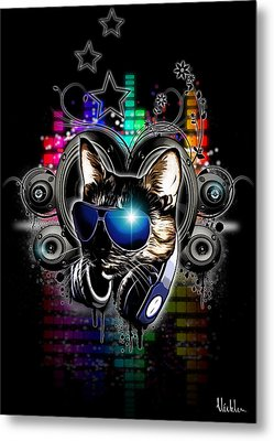 Drop The Bass Metal Print by Nicklas Gustafsson
