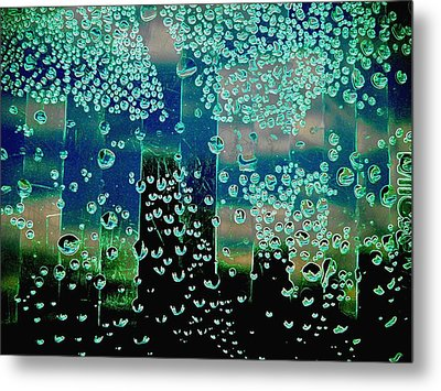 Drops Of Rain Metal Print by Shirley Sirois