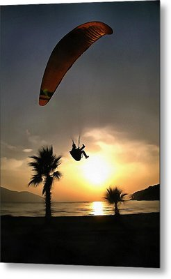 Dropzone At Dusk Metal Print by Tracey Harrington-Simpson
