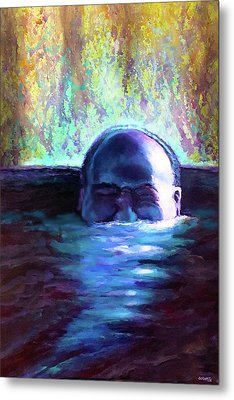 Drowning In A Sea Of Sensory Perception Metal Print by Charles Wallis