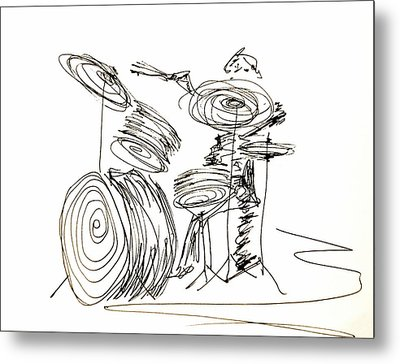 Drum Circles Metal Print