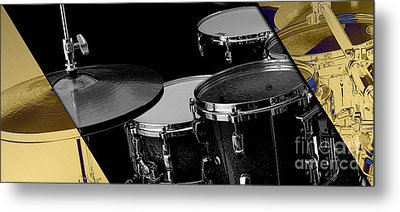 Drum Set Collection Metal Print by Marvin Blaine