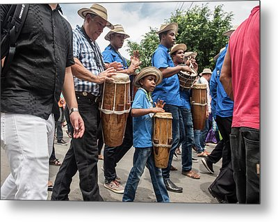 Drummer Boy In Parade Metal Print