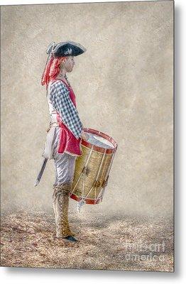 Drummer Boy Portrait  Ver 2 Metal Print