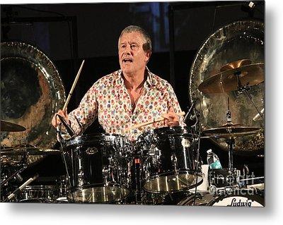 Drummer Carl Palmer Metal Print by Concert Photos