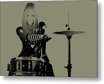 Drummer Metal Print by Naxart Studio