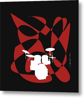 Drums In Black Strife Metal Print by David Bridburg