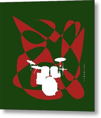 Drums In Green Strife Metal Print by David Bridburg