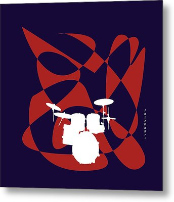 Drums In Purple Strife Metal Print by David Bridburg
