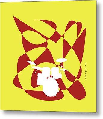 Drums In Yellow Strife Metal Print by David Bridburg