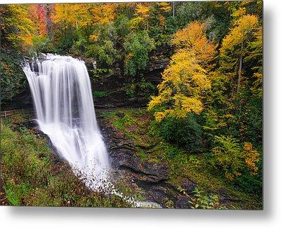 Dry Falls Highlands North Carolina Metal Print by Rick Dunnuck