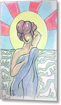 Drying Off From A Swim Metal Print by Loretta Nash