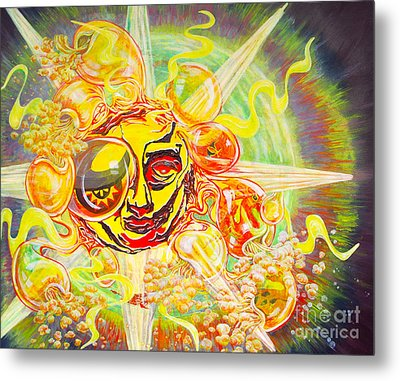 2015 Cbs Sunday Morning Sun Art-solar Flares Metal Print