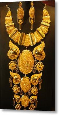 Dubai Gold Jewelry Metal Print by Art Spectrum